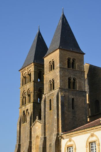 Bourgogne, the picturesque basilica of Paray le Monial