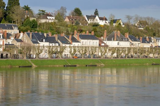France, the picturesque city of Gien in Loiret