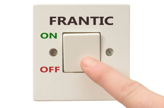 Turning off Frantic with finger on electrical switch