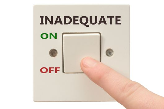 Turning off Inadequate with finger on electrical switch