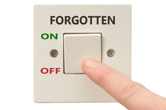 Turning off Forgotten with finger on electrical switch