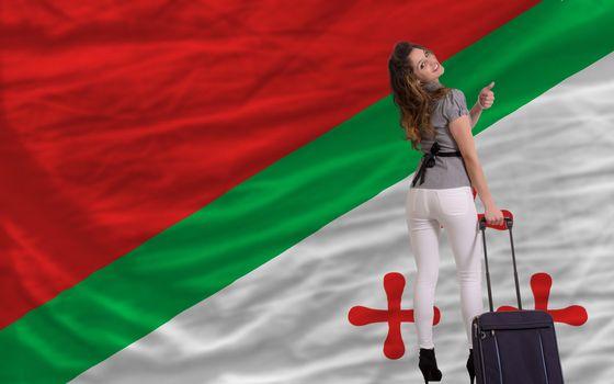 young beautiful woman is traveling to katanga