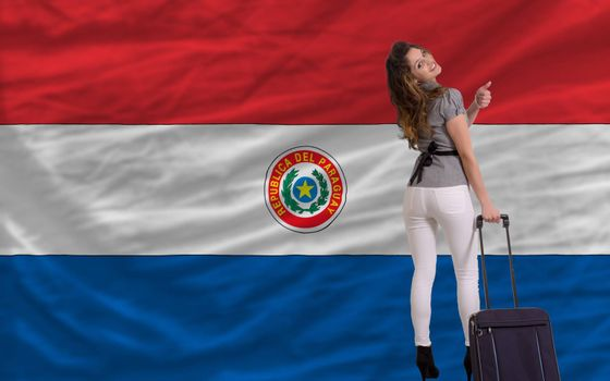 young beautiful woman is traveling to paraguay