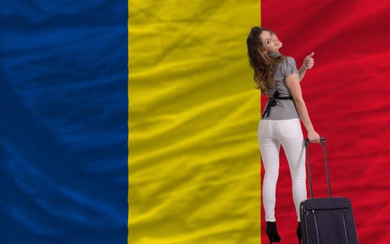 young beautiful woman is traveling to romania