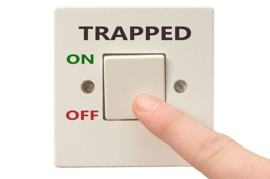 Turning off Trapped with finger on electrical switch