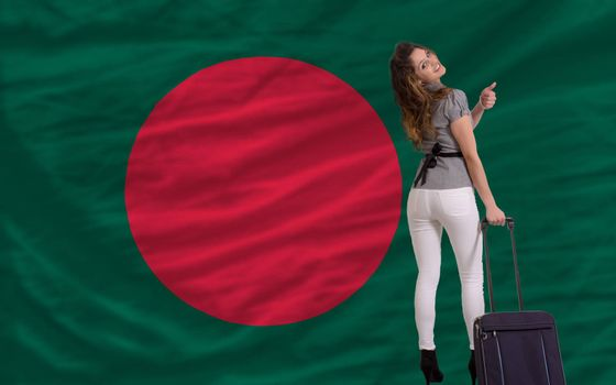 young beautiful woman is traveling to bangladesh