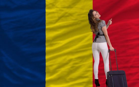 young beautiful woman is traveling to chad