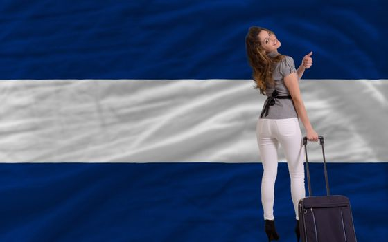 young beautiful woman is traveling to nicaragua