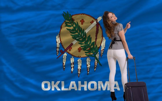young beautiful woman is traveling to oklahoma