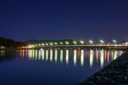 Bridge Reflection at Night