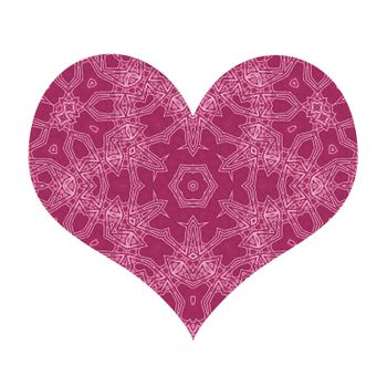 Abstract heart with pattern on white background