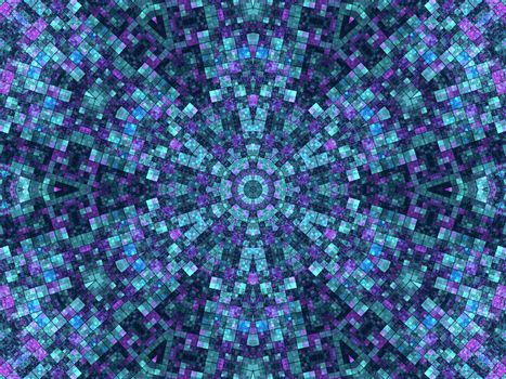 Mosaic background with abstract concentric pattern