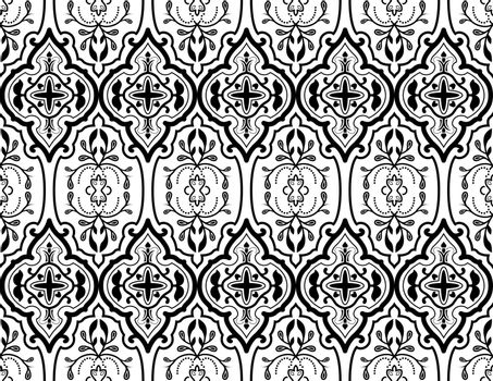 Ornamental Texture - Repetitive Pattern Illustration, Vector