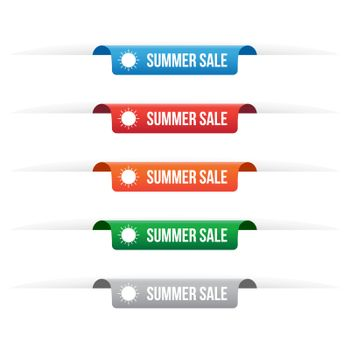 Summer sale paper tag labels