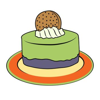 doodle cupcake on plate