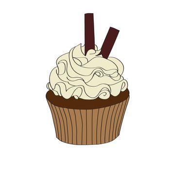 doodle cupcake