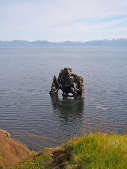 Hvitserkur basalt stack, Vatnes peninsula, Iceland