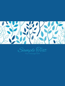 Vector blue forest stripe frame vertical card invitation template graphic design
