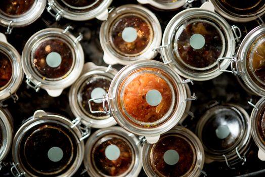 Homemade confitura of sauce