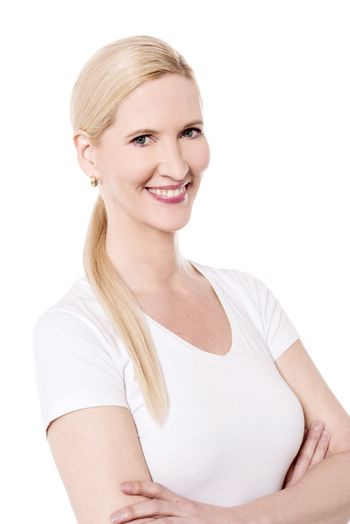 Confident woman looking at camera