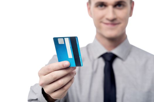 Your new credit card sir.