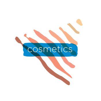 Abstract vector logo pyramid for cosmetics