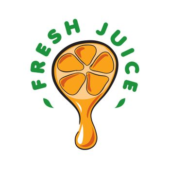 vector logo drop of juice from the orange