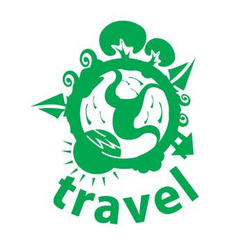 vector logo journey around the planet