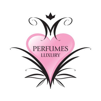 vector logo pink heart for perfumes