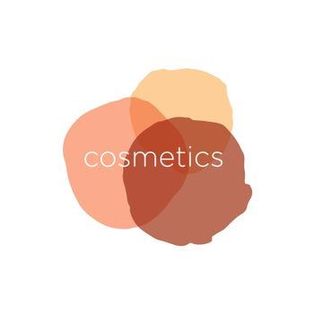 Abstract vector logo for cosmetics and beauty