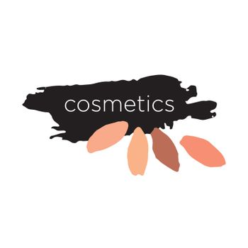 Abstract vector logo for cosmetics and makeup