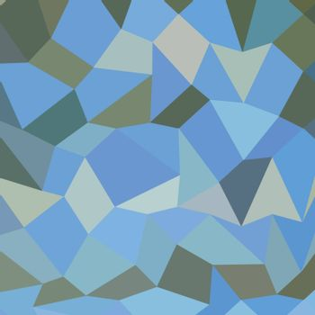 Low polygon style illustration of a bondi blue abstract geometric background.