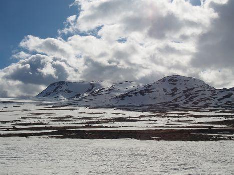 Mountains in Valdresflya, Norway