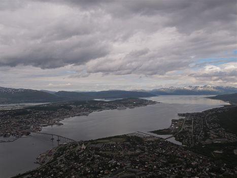View over Tromsø, Norway, seen from Fløya.