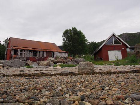 Fishing-shack in Ersfjord, Tromsø, Norway
