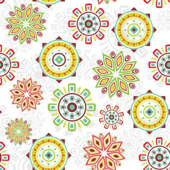 Vector colorful folk seamless pattern background graphic design