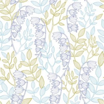 Vector forest lily seamless pattern background graphic design