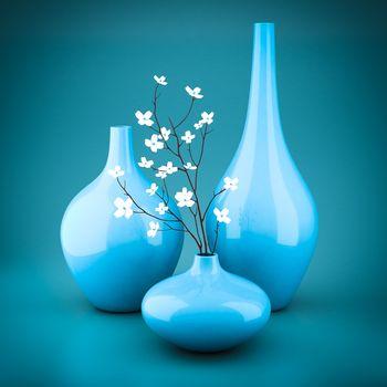 set of porcelain vases