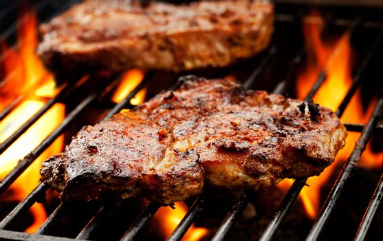 Pork Chops On The Barbecue