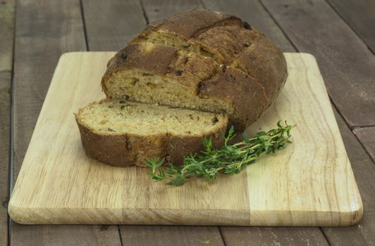 Loaf of wholemeal brown bread