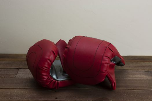 Red and silver boxing gloves