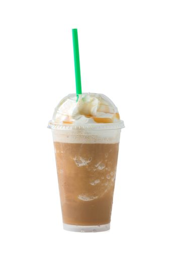 iced coffee with clipping path