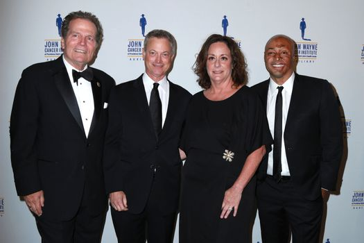 Patrick Wayne, Gary Sinise, Anita Swift, J.R. Martinez at the 30th Annual John Wayne Odyssey Ball, Beverly Wilshire Hotel, Beverly Hills, CA 04-11-15/ImageCollect