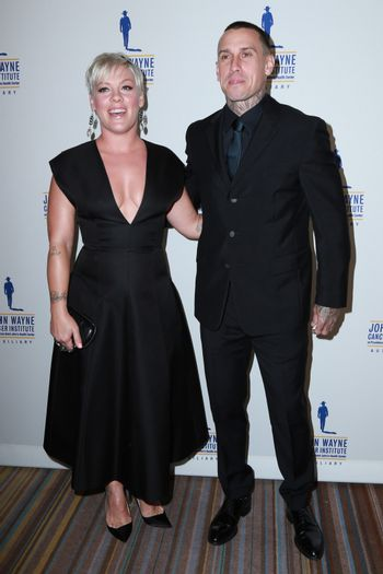 Pink, Carey Hart at the 30th Annual John Wayne Odyssey Ball, Beverly Wilshire Hotel, Beverly Hills, CA 04-11-15/ImageCollect