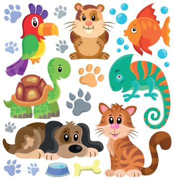 Pets theme collection 1 - eps10 vector illustration.