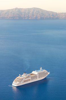 Luxury cruise ship.