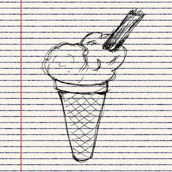 illustration of an ice cream
