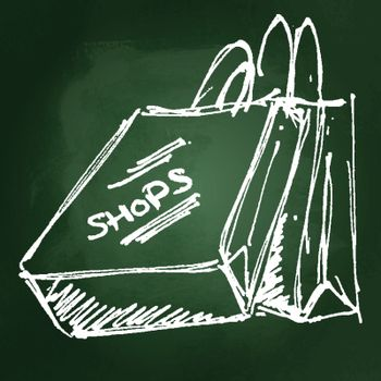 Set of cartoon style shopping bags