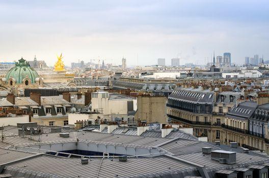 Beautiful Parisian skyline