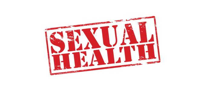 Rubber stamp with text sexual health inside, vector illustration